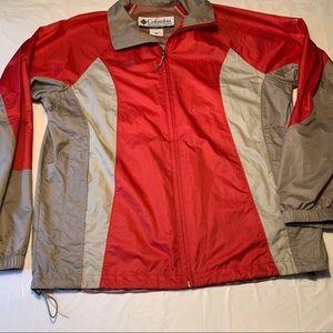 Columbia Windbreaker Zip Up Water Resistant Jacket